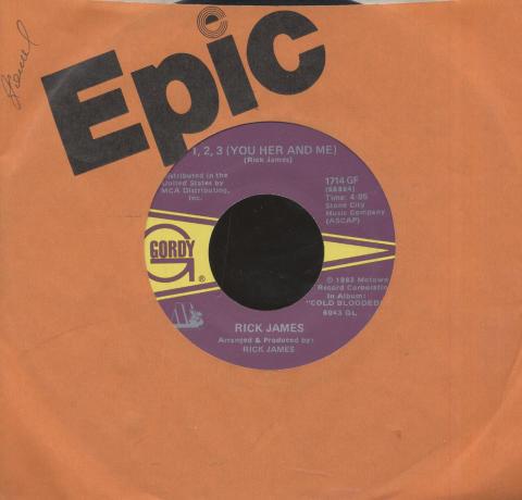 """Rick James Featuring Smokey Robinson Vinyl 7"""" (Used)"""