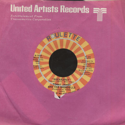 "Tommy James & the Shondells Vinyl 7"" (Used)"