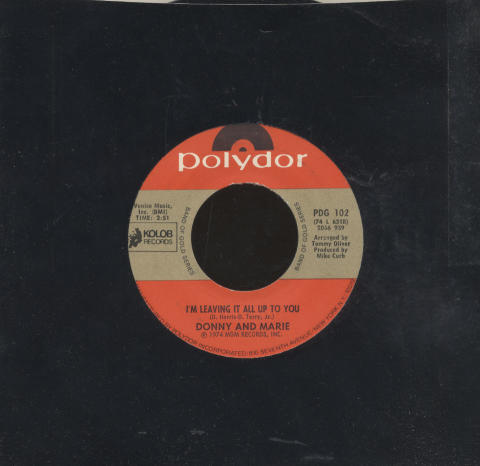 """Donny and Marie Vinyl 7"""" (Used)"""