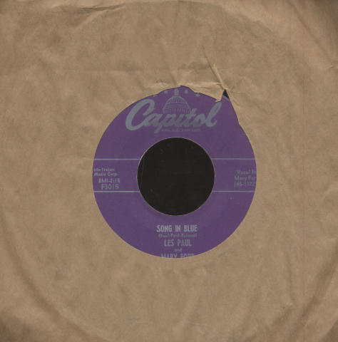 """Les Paul and Mary Ford Vinyl 7"""" (Used)"""