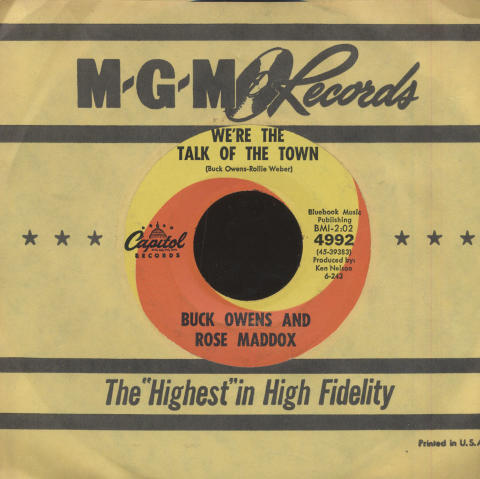 """Buck Owens And Rose Maddox Vinyl 7"""" (Used)"""