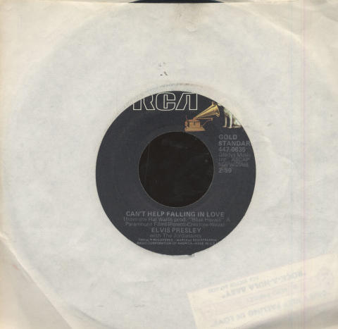 "Elvis Presley with The Jordanaires Vinyl 7"" (Used)"