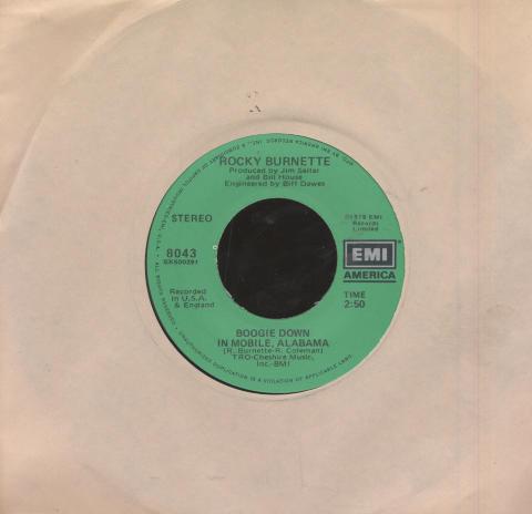 """Rocky Burnette Vinyl 7"""" (Used)"""