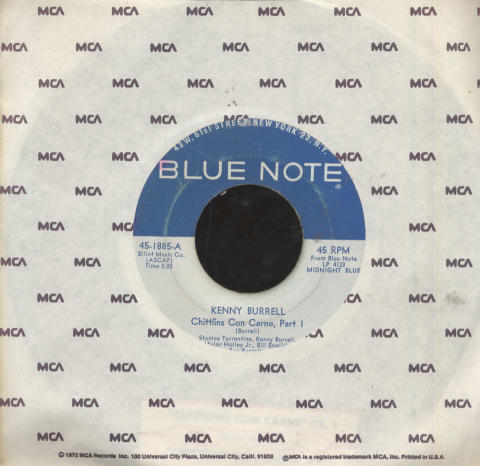 "Kenny Burrell Vinyl 7"" (Used)"