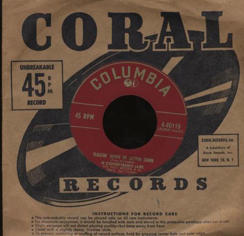 """Jo Stafford / Frankie Laine Vinyl 7"""" (Used)"""