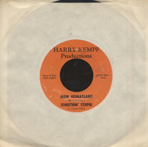 "Harry Kempf / Paul Ilgen Vinyl 7"" (Used)"