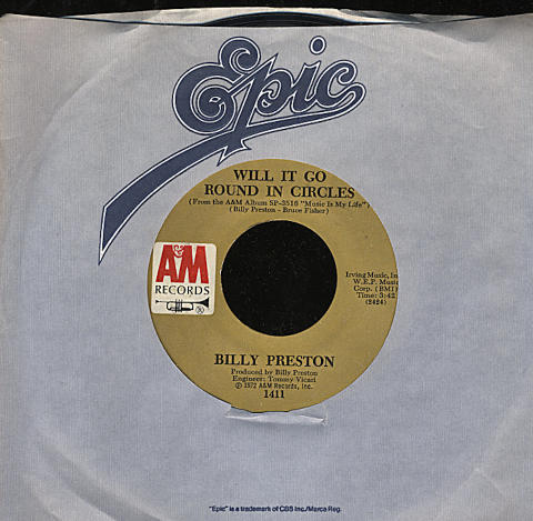 "Billy Preston Vinyl 7"" (Used)"