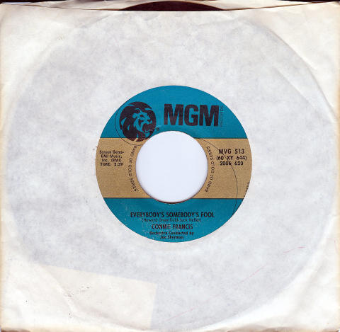 "Connie Francis Vinyl 7"" (Used)"