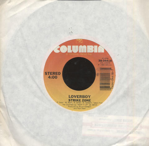 "Loverboy / Mike Reno / Ann Wilson Vinyl 7"" (Used)"