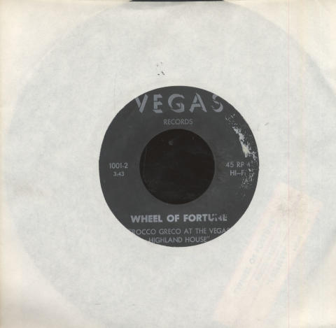 "Rocco Greco At The Vegas Highland House Vinyl 7"" (Used)"