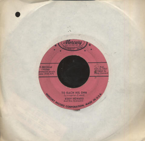 """Eddy Howard And His Orchestra Vinyl 7"""" (Used)"""