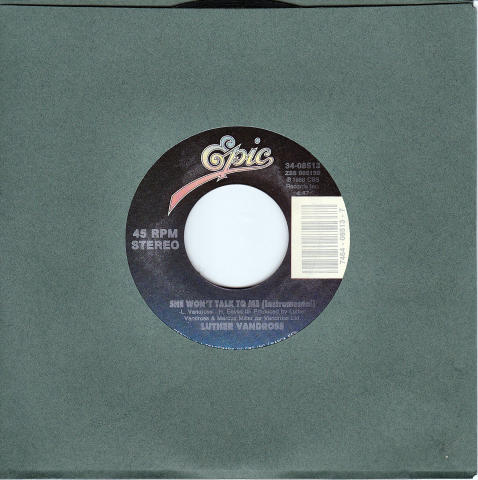 """Luther Vandross Vinyl 7"""" (Used)"""