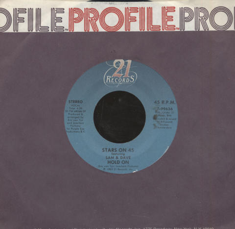 "Stars On 45 featuring Sam & David Vinyl 7"" (Used)"