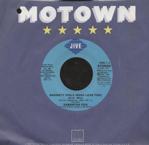 "Samantha Fox Vinyl 7"" (Used)"