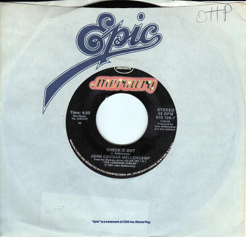 "John Cougar Mellencamp Vinyl 7"" (Used)"