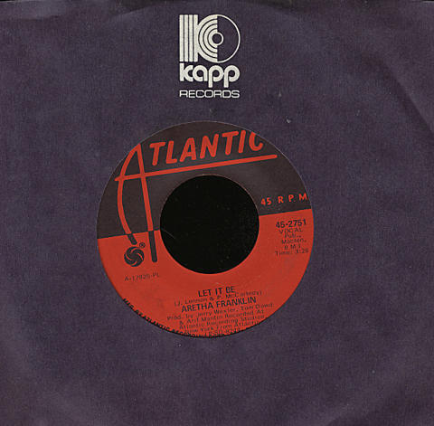 """Aretha Franklin with The Dixie Flyers Vinyl 7"""" (Used)"""