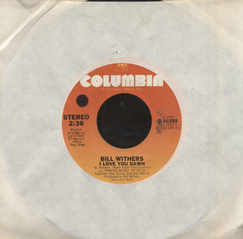 """Bill Withers Vinyl 7"""" (Used)"""