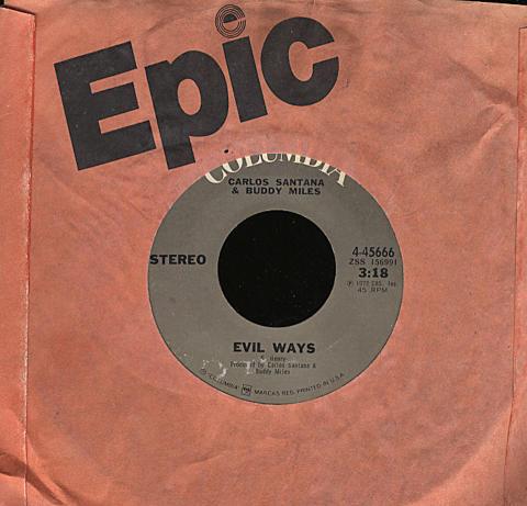 "Carlos Santana & Buddy Miles Vinyl 7"" (Used)"