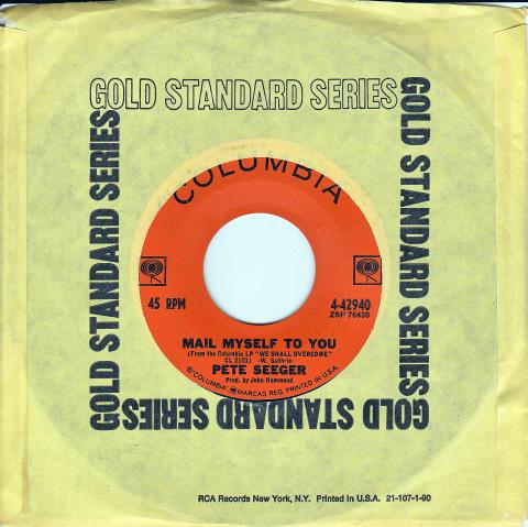 """Pete Seeger Vinyl 7"""" (Used)"""