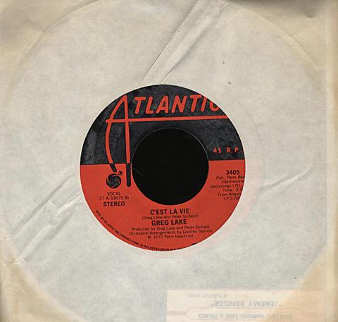 "Greg Lake Vinyl 7"" (Used)"