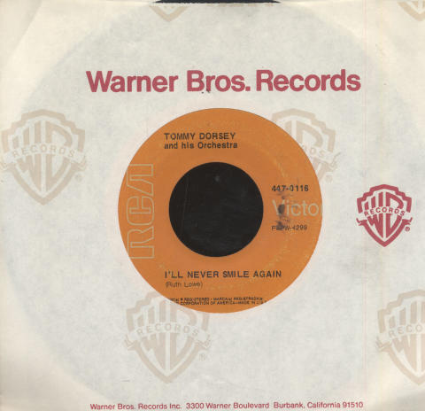 """Tommy Dorsey & His Orchestra Vinyl 7"""" (Used)"""
