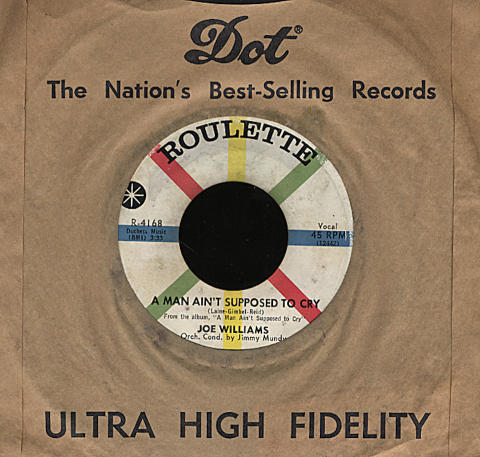 """Joe Williams Vinyl 7"""" (Used)"""