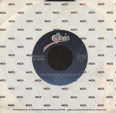 """Adam Ant Vinyl 7"""" (Used)"""