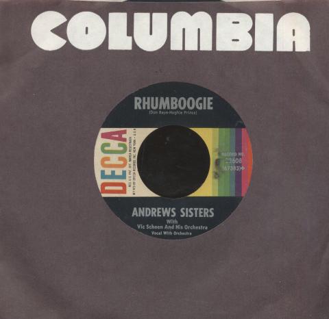 """Andrews Sisters Vinyl 7"""" (Used)"""