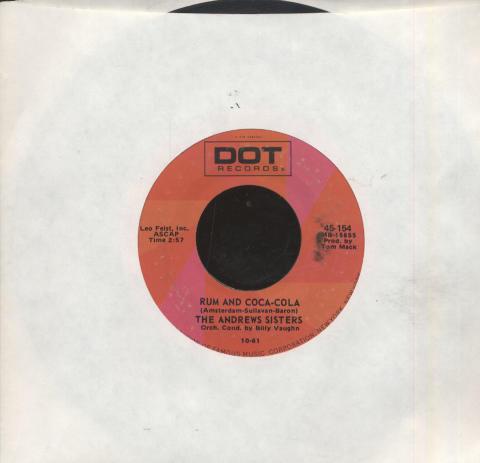 "The Andrews Sisters Vinyl 7"" (Used)"
