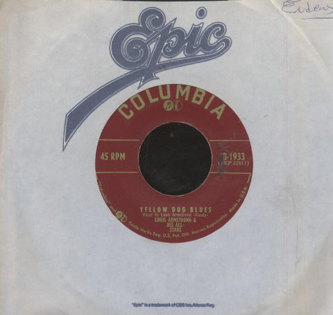 """Louis Armstrong And His All-Stars Vinyl 7"""" (Used)"""