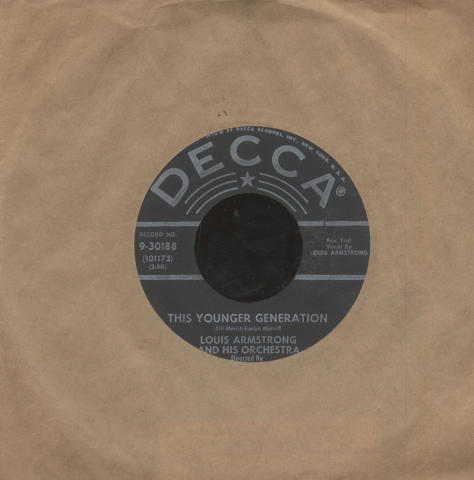 """Louis Armstrong And His Orchestra Vinyl 7"""" (Used)"""
