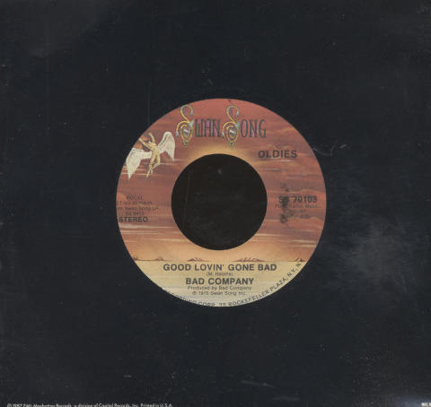 "Bad Company Vinyl 7"" (Used)"
