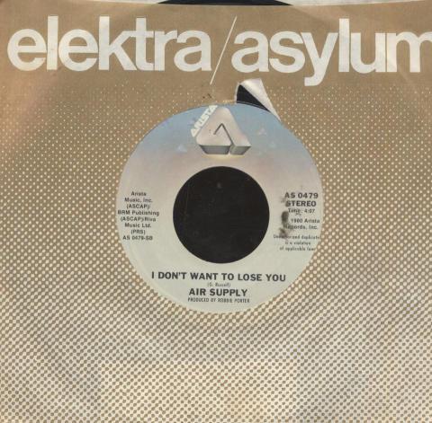 "Air Supply Vinyl 7"" (Used)"