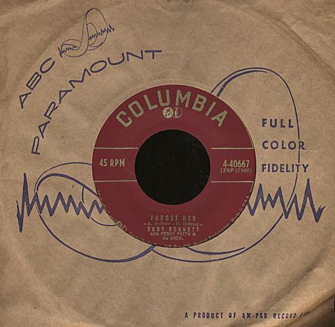 "Tony Bennett with Percy Faith & His Orchestra Vinyl 7"" (Used)"