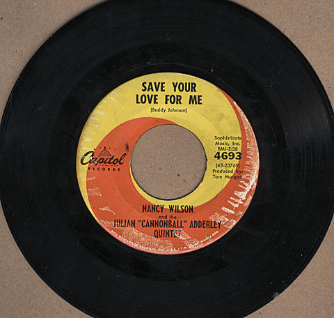 "Nancy Wilson with Julian ""Cannonball"" Adderley Quintet Vinyl 7"" (Used)"