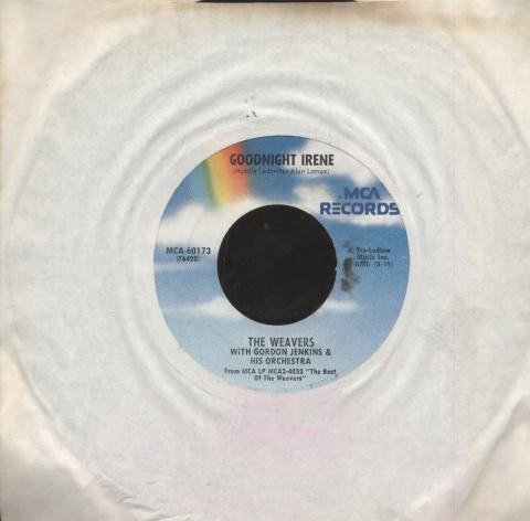 """The Weavers with Gordon Jenkins and His Orchestra / Terry Gilkyson & Chorus Vinyl 7"""" (Used)"""