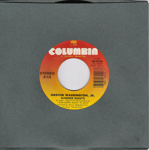 "Grover Washington Jr. Vinyl 7"" (Used)"