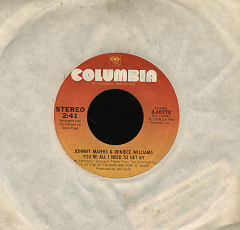 "Johnny Mathis / Deniece Williams Vinyl 7"" (Used)"