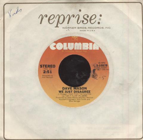"Dave Mason Vinyl 7"" (Used)"