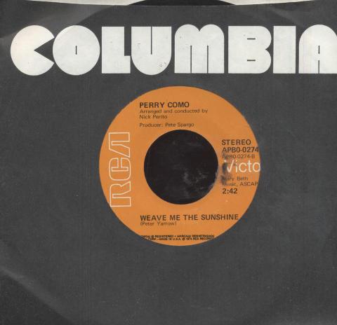 """Perry Como Vinyl 7"""" (Used)"""
