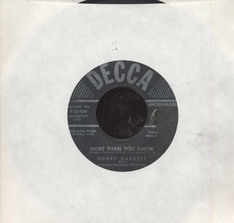 "Bobby Hackett / Randy Brooks and His Orchestra Vinyl 7"" (Used)"