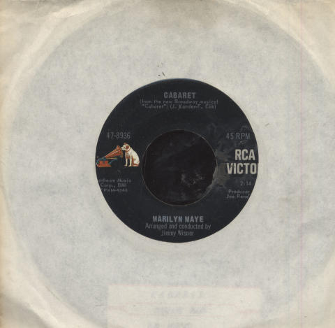 "Marilyn Maye Vinyl 7"" (Used)"