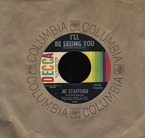 """Jo Stafford Vinyl 7"""" (Used)"""