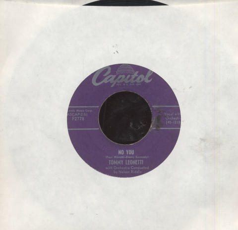 "Tommy Leonetti Vinyl 7"" (Used)"