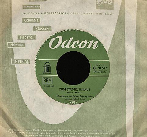 """Musikkorps der Kolner Schutzpolizei Vinyl 7"""" (Used)"""