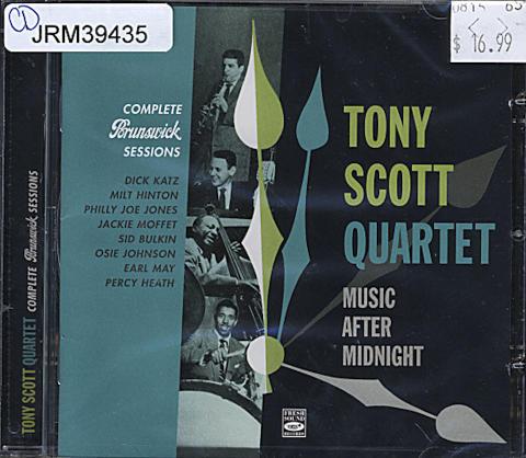 Tony Scott Quartet CD