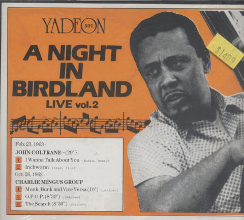 A Night in Birdland Live: Vol. 2 CD