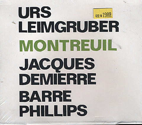 Urs Leimgruber / Jecques Demierre / Barre Phillips CD