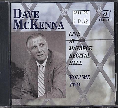Dave McKenna CD