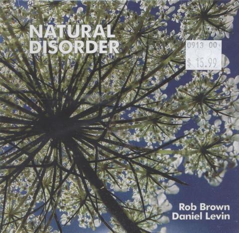 Rob Brown / Daniel Levin CD